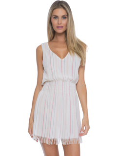 Endless Summer Metallic Stripe Dress Cover-Up BECCA by Rebecca Virtue