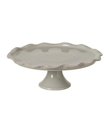 Cook & Host Large Grey Footed Cake Plate Casafina