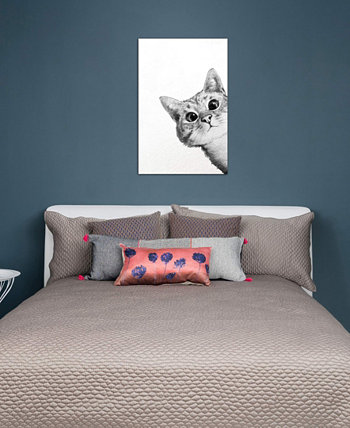 """Sneaky Cat"" by Laura Graves Gallery-Wrapped Canvas Print (26 x 18 x 0.75) ICanvas"
