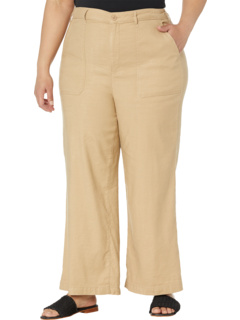 Plus Size High-Waisted Wide Leg Ankle Stretch Linen Twill Pants NYDJ Plus Size