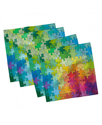 """Abstract Set of 4 Napkins, 12"""" x 12"""" Ambesonne"""