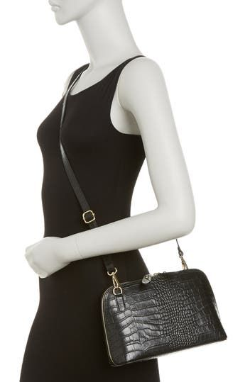 Bonnie Croc Embossed Leather Crossbody Bag CHRISTIAN LAURIER