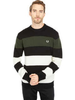 Bold Striped Crew Neck Jumper Fred Perry
