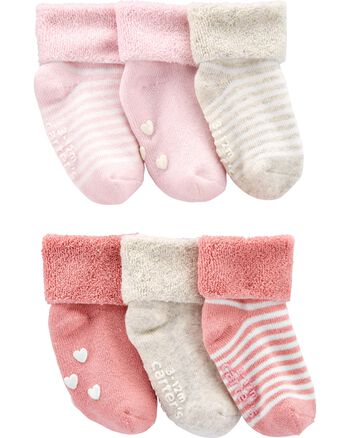 Carter's 6-Pack Kitty Booties Carters