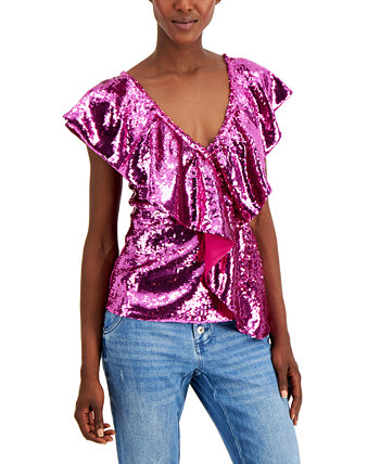 INC Sequin Ruffle Top, Created for Macy's INC International Concepts