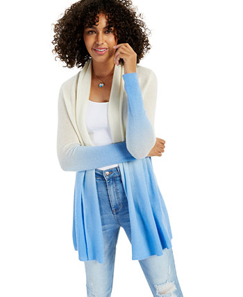 Cashmere Dip Dye Long-Sleeve Rolled Edge Completer Sweater, Created for Macy's Charter Club