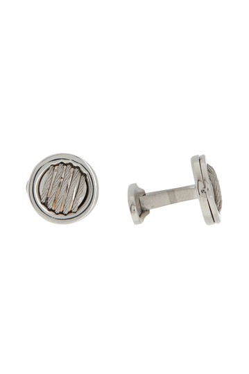 Grey Cable Stainless Steel Cuff Links ALOR