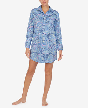 Printed Woven Sleep Shirt Ralph Lauren