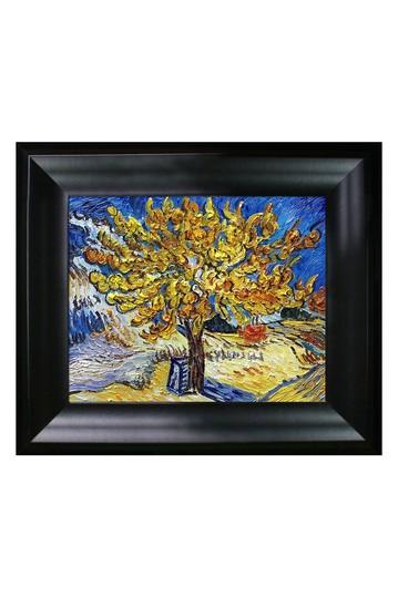 """The Mulberry Tree with Black Matte Frame, 13"""" x 15"""" No brands"""