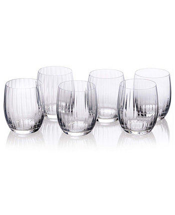 Tumblers with Straight Cut Design, Set of 6 Bezrat