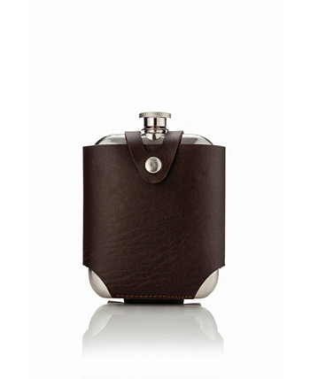 Admiral Stainless Steel Flask and Traveling Case Viski