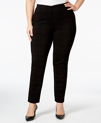 Plus Size Hollywood Printed Skinny Pants, Created for Macy's Alfani