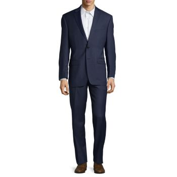 ​Check Ultraflex Classic-Fit Wool Suit LAUREN Ralph Lauren