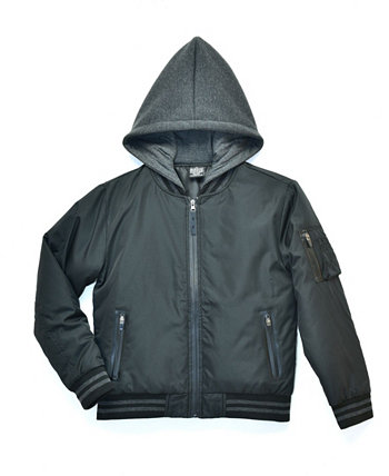 Big Boys Blaze Padded Bomber Jacket with Hood, Created For Macy's Ring of Fire