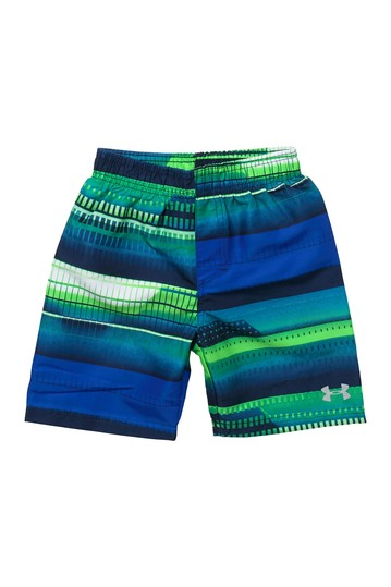 UA Way Stripe Print Volley Swim Shorts (Little Boys) Under Armour