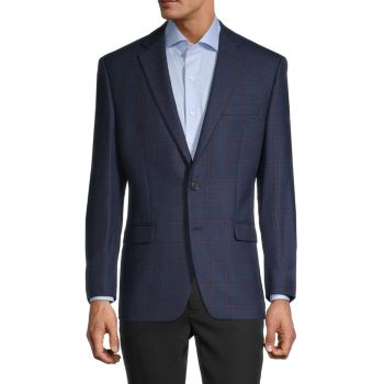 Standard-Fit Wool-Blend Windowpane Check Sportcoat LAUREN Ralph Lauren