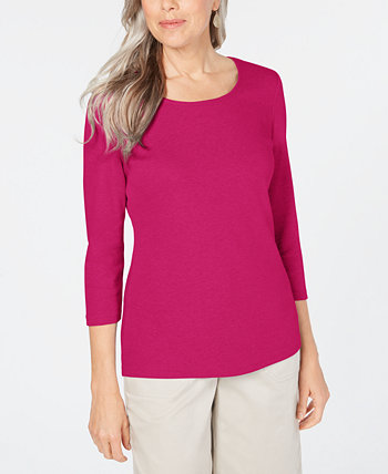 Cotton Scoop-Neck Top, Created for Macy's Karen Scott