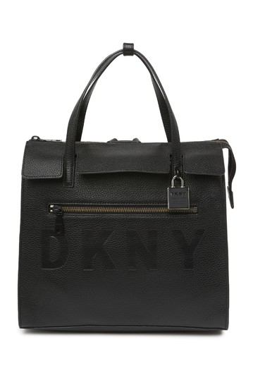 Commuter Convertible Pebbled Leather Backpack DKNY