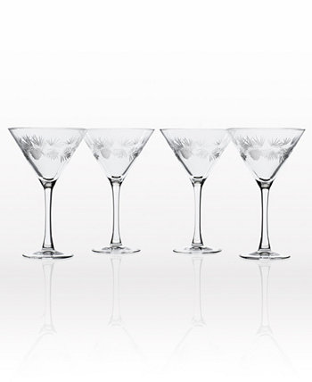 Icy Pine Martini 10Oz - Set Of 4 Glasses Rolf Glass