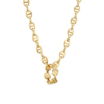 Heritage Classic Tri-Link 18K Yellow Gold Charm Hoorsenbuhs