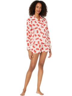 Sleep to Dream Lovers Shorty Cotton PJ Set in Sack Only Hearts