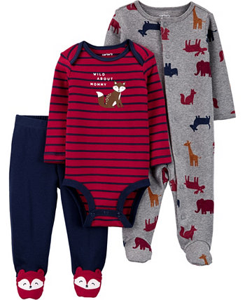 Carters Baby Girl 3-Piece Squirrel Bodysuit & Footed Pant Set Carters