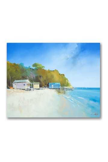 Walk on Shelly Beach Gallery Wrapped Canvas Wall Art Courtside Market