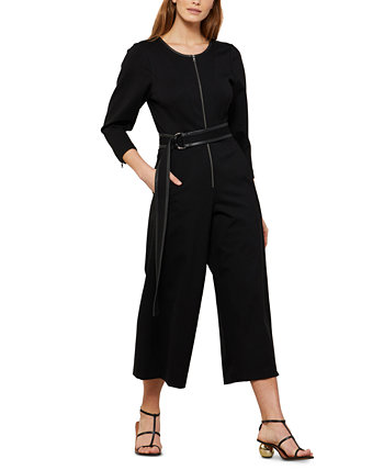 Cropped Belted Jumpsuit BCBGMAXAZRIA