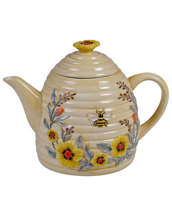 Bee Sweet 3-D Beehive Teapot Certified International