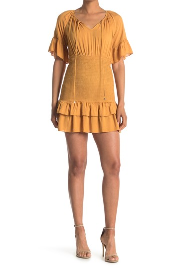 Tie Front Smocked Tiered Dress SEE THE SHADES