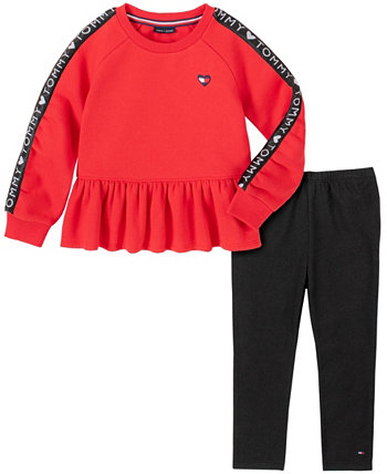 Toddler Girls Two Piece Tunic Top with Leggings Set Tommy Hilfiger