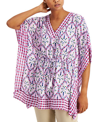 Cotton Printed Kimono, Created for Macy's Charter Club