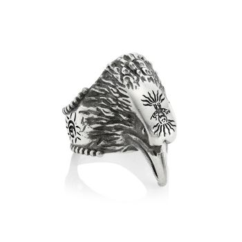 Anger Forest Sterling Silver Eagle Ring GUCCI