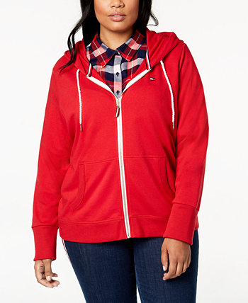 Plus Size Zip-Front Hoodie, Created for Macy's Tommy Hilfiger