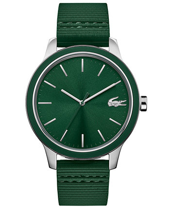 Men's Green Silicone Strap Watch 44mm Lacoste