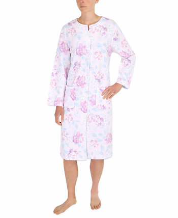 Floral-Print Quilted Robe Miss Elaine