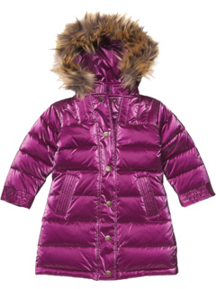 Shiny Long Down Coat w/ Faux Fur Hood (Toddler/Little Kids/Big Kids) Appaman Kids