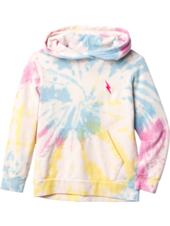 Tie-Dye Gem Hoodie Sweatshirt (Toddler/Little Kids/Big Kids) Tiny Whales