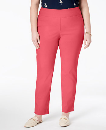 Plus Size Cambridge Tummy-Control Pull-On Pants, Created for Macy's Charter Club