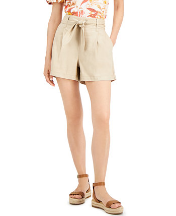 INC Tie-Waist Shorts, Created for Macy's INC International Concepts