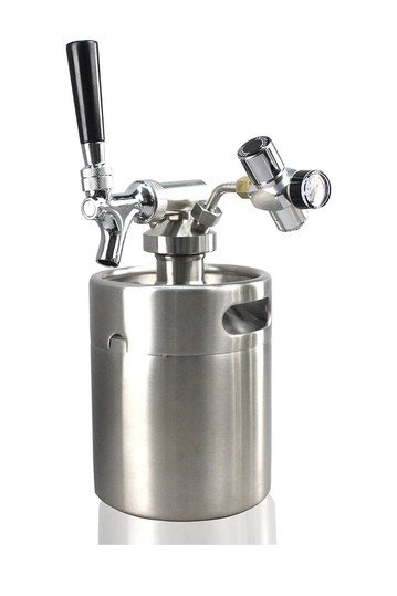 Homebrew Mini Keg - Stainless Steel CO2 Home Keg Dispenser System  NutriChef