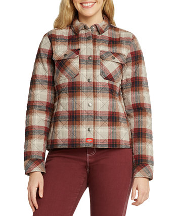 Plaid Quilted Shirt Jacket Dickies