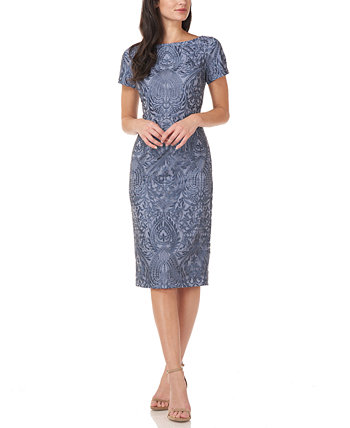 Embroidered Sheath Dress JS Collections