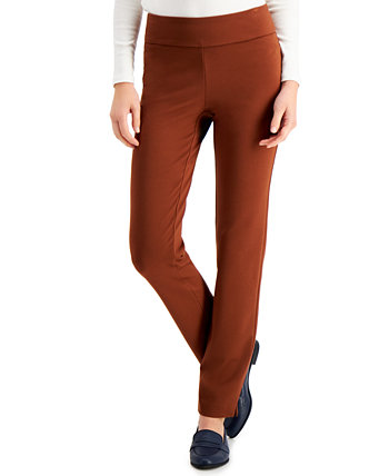 Pull-On Ponté-Knit Pants, Created for Macy's Charter Club