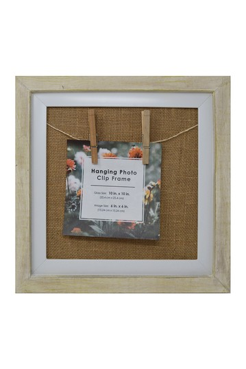 Rustic Wood Hanging Photo Clip Frame PTM Images