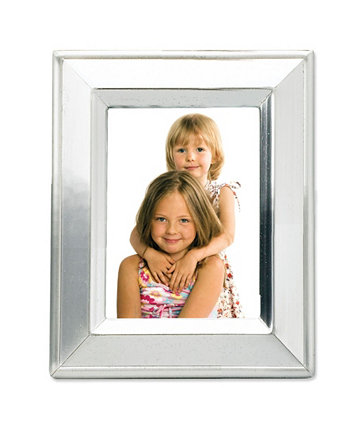 """Brushed Silver Plated Metal Picture Frame - 2"""" x 3"""" Lawrence Frames"""