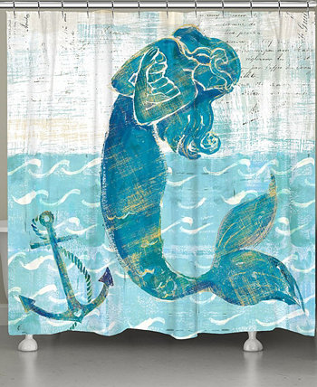 Mermaid of the Seven Seas Shower Curtain Laural Home