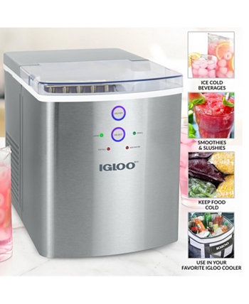 ICEB33SS 33-Pound Ice Maker, Stainless Steel Igloo