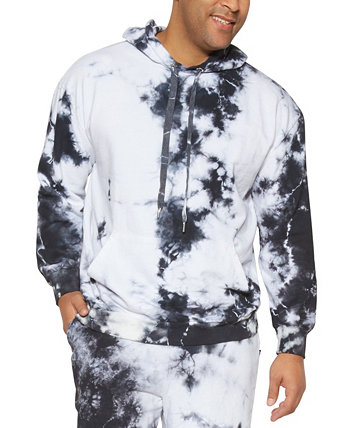 Men's Big Tall Tie-Dye Dragon Print Hoodie Mvp Collections By Mo Vaughn Productions