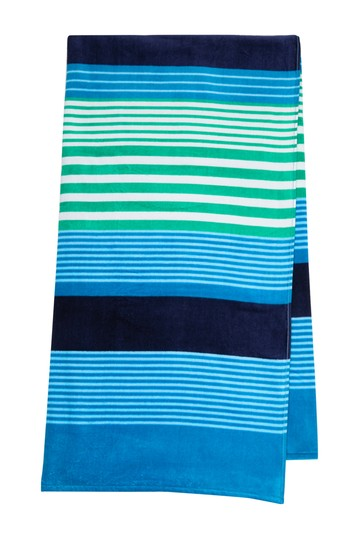 New Times Stripes Print Beach Towel Apollo Towels